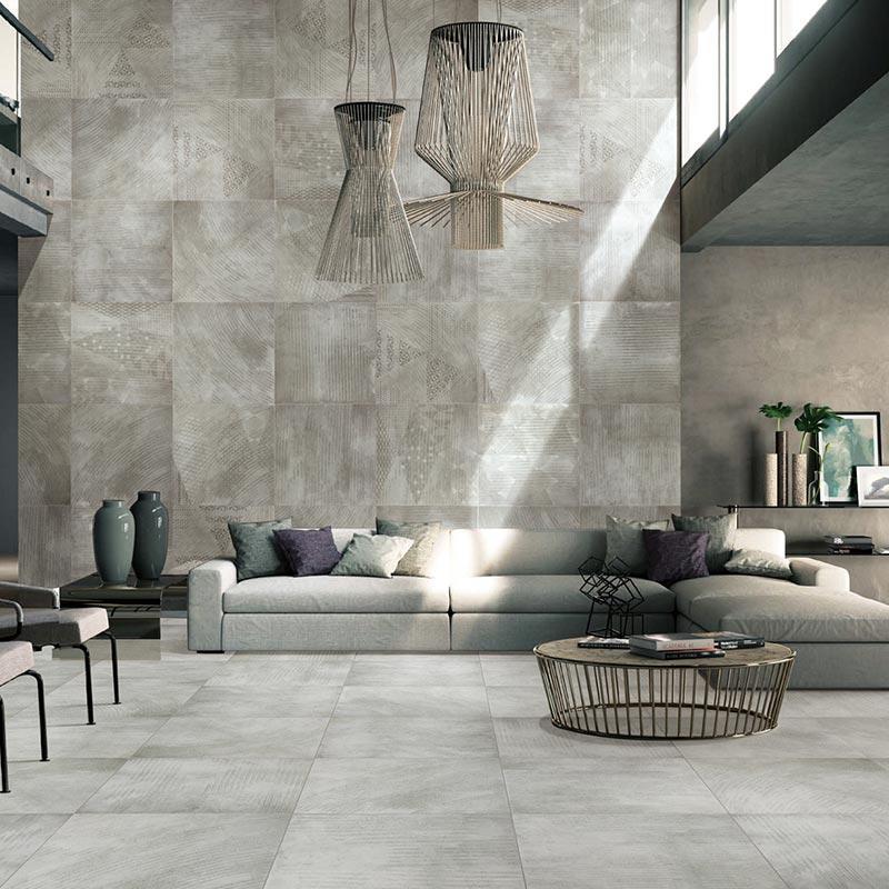 尼古拉斯风格仿古砖/地面瓷砖(水泥灰色)600x600mm _.